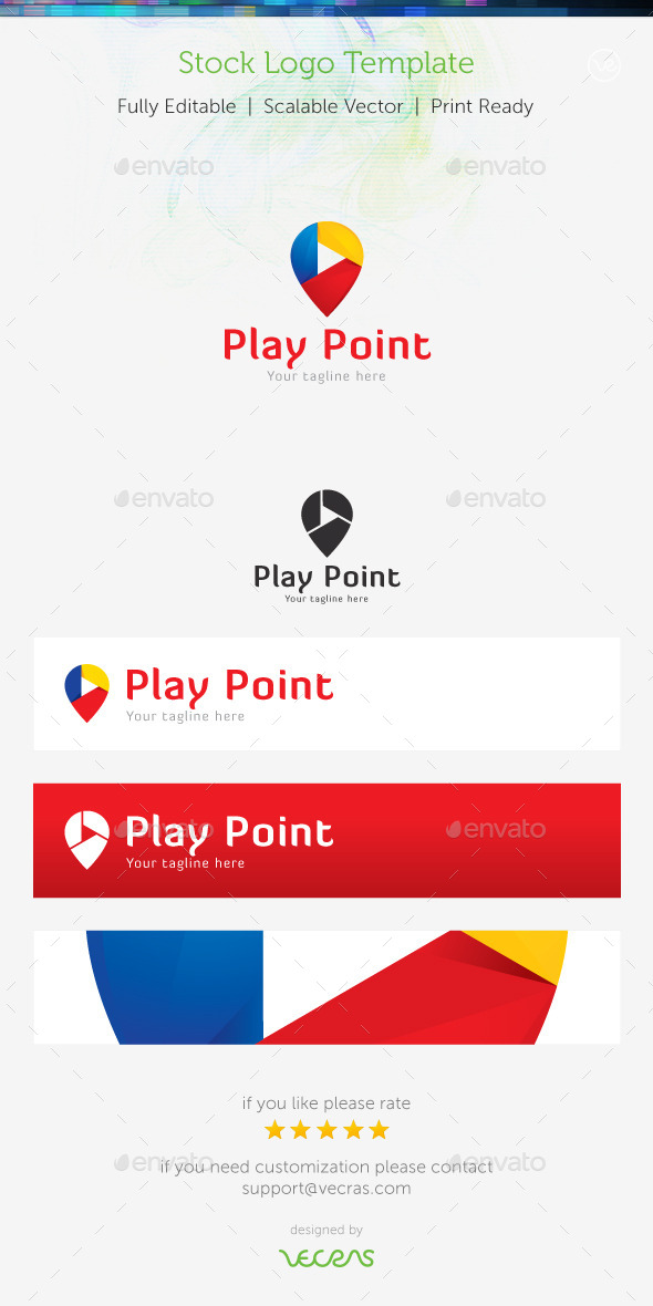 GraphicRiver Play Point Stock Logo Template 8989192