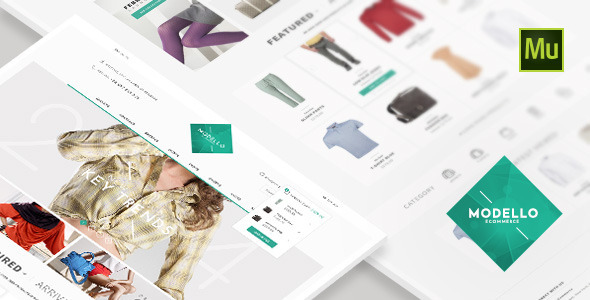 ThemeForest Modello eCommerce Muse Template 8989226