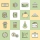 Money Finance Icons Flat Line - GraphicRiver Item for Sale
