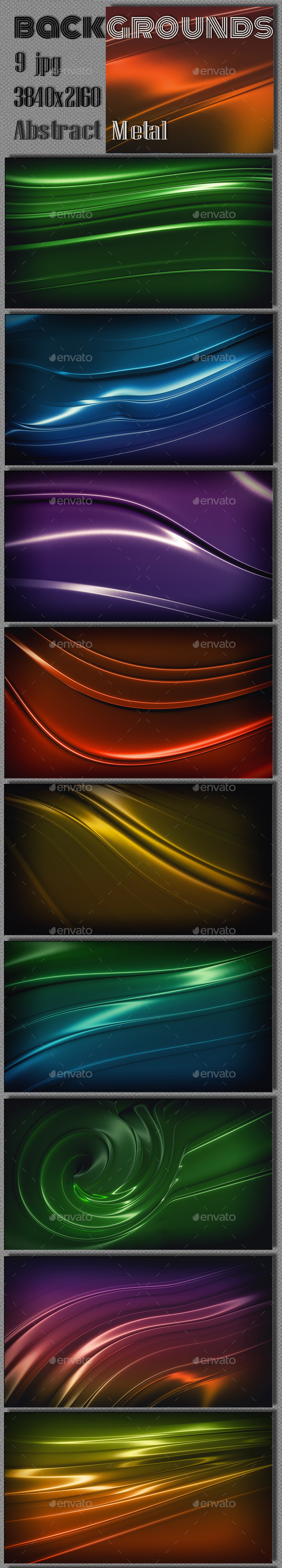 GraphicRiver Glossy Steel 3D Wallpaper 8989292