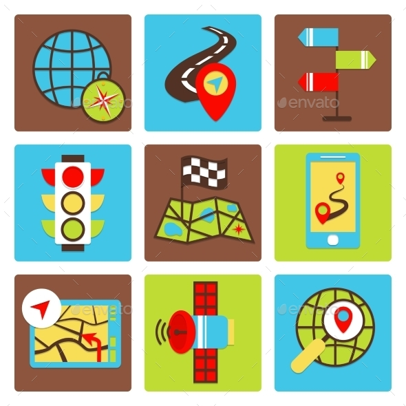 GraphicRiver Mobile Navigation Icons 8989295