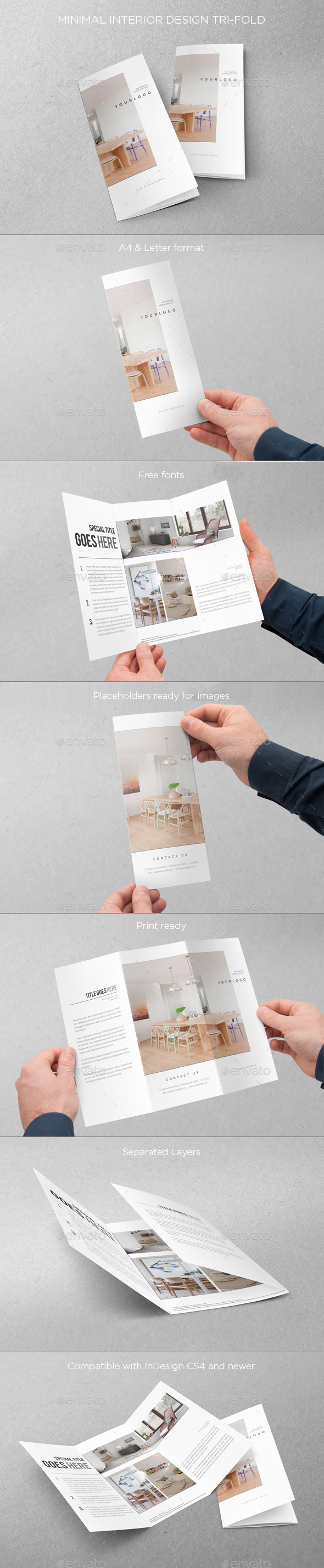 GraphicRiver Minimal Interior Design Trifold 8989296