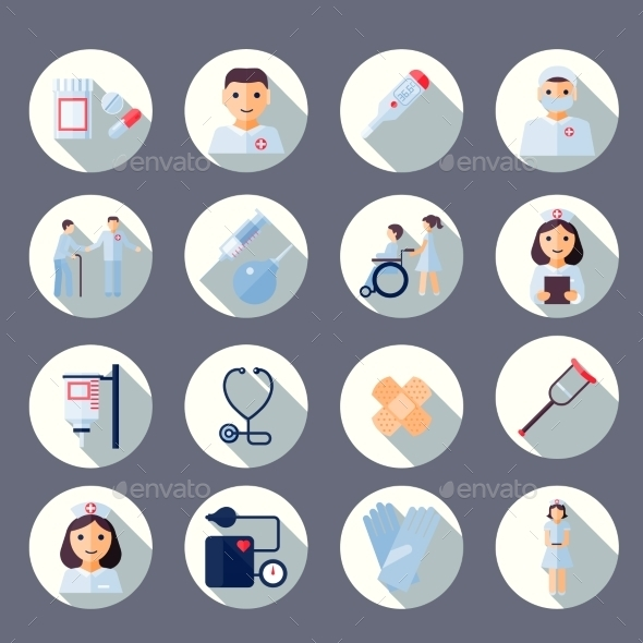 GraphicRiver Nurse Icon Set 8989299