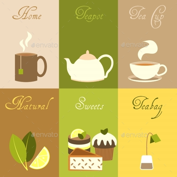 GraphicRiver Tea Mini Posters Set 8989302