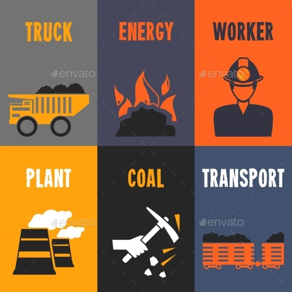 GraphicRiver Coal Industry Mini Posters 8989303