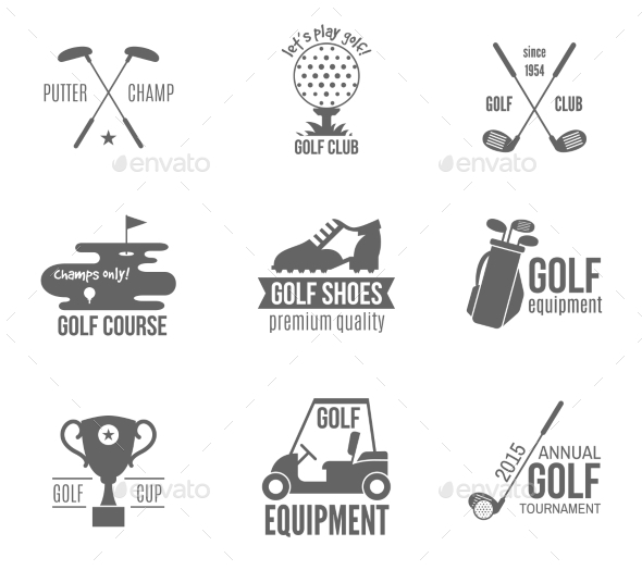 GraphicRiver Golf Label Set 8989305