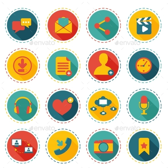 GraphicRiver Social Network Icons 8989313