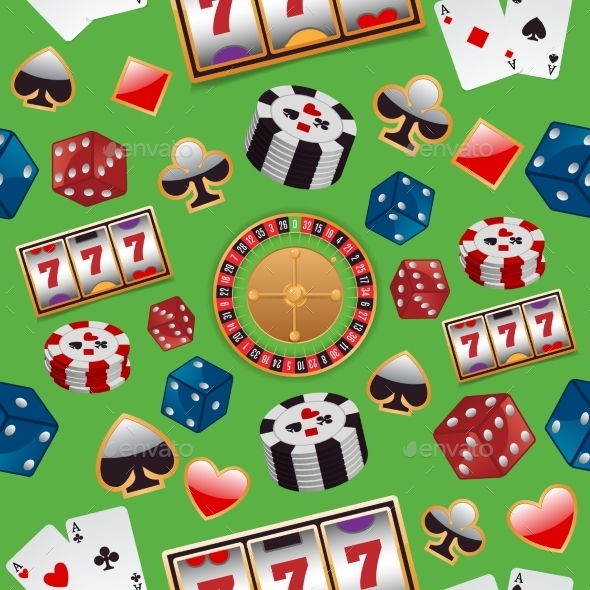 GraphicRiver Casino Seamless Pattern 8989323