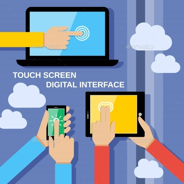 GraphicRiver Touch Screen Gadgets 8989328