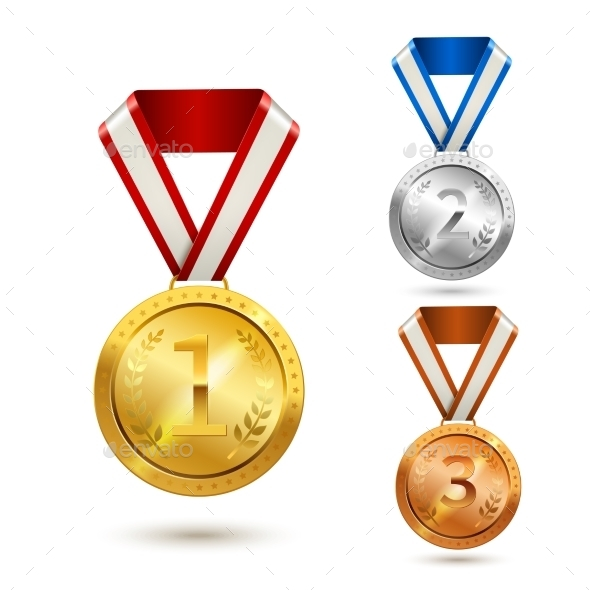 GraphicRiver Award Medals Set 8989336