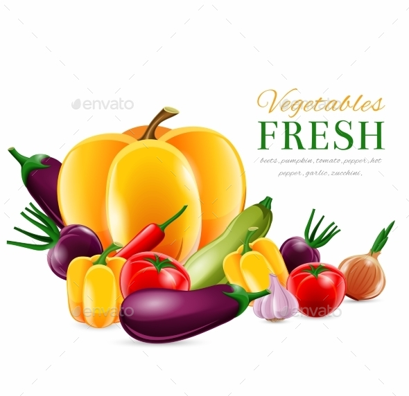 GraphicRiver Vegetables Group Poster 8989348