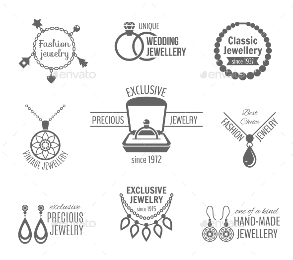 GraphicRiver Jewelry Label Set 8989370