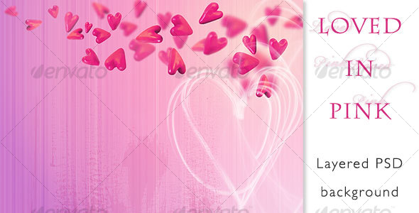 Loved in Pink - Abstract Backgrounds