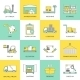 Warehouse Icons Flat Line - GraphicRiver Item for Sale