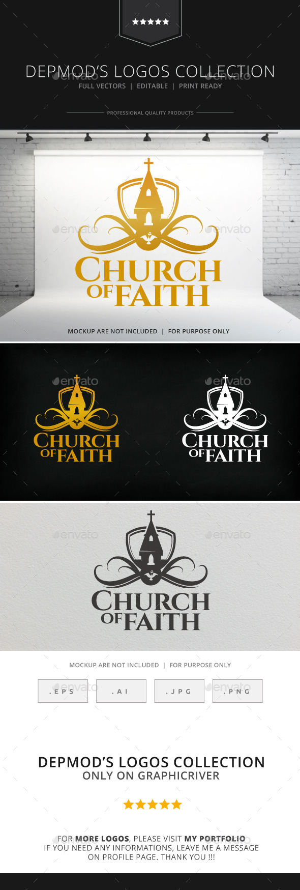 GraphicRiver Church of Faith Logo 8989461