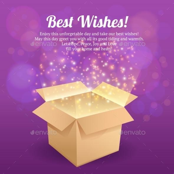 GraphicRiver Open Box Postcard 8989464