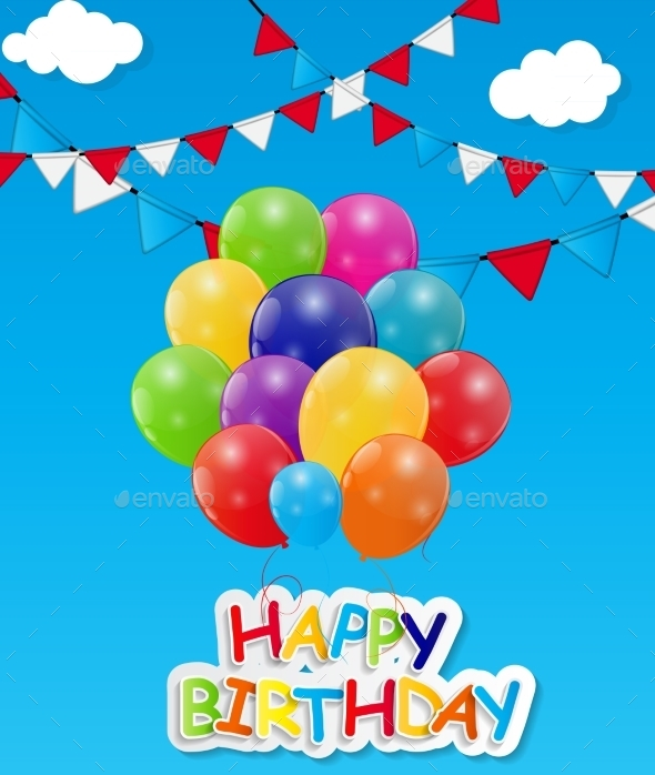 GraphicRiver Glossy Balloons Background Vector Illustration 8989505