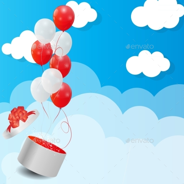 GraphicRiver Color Glossy Balloons Background Vector Illustration 8989515
