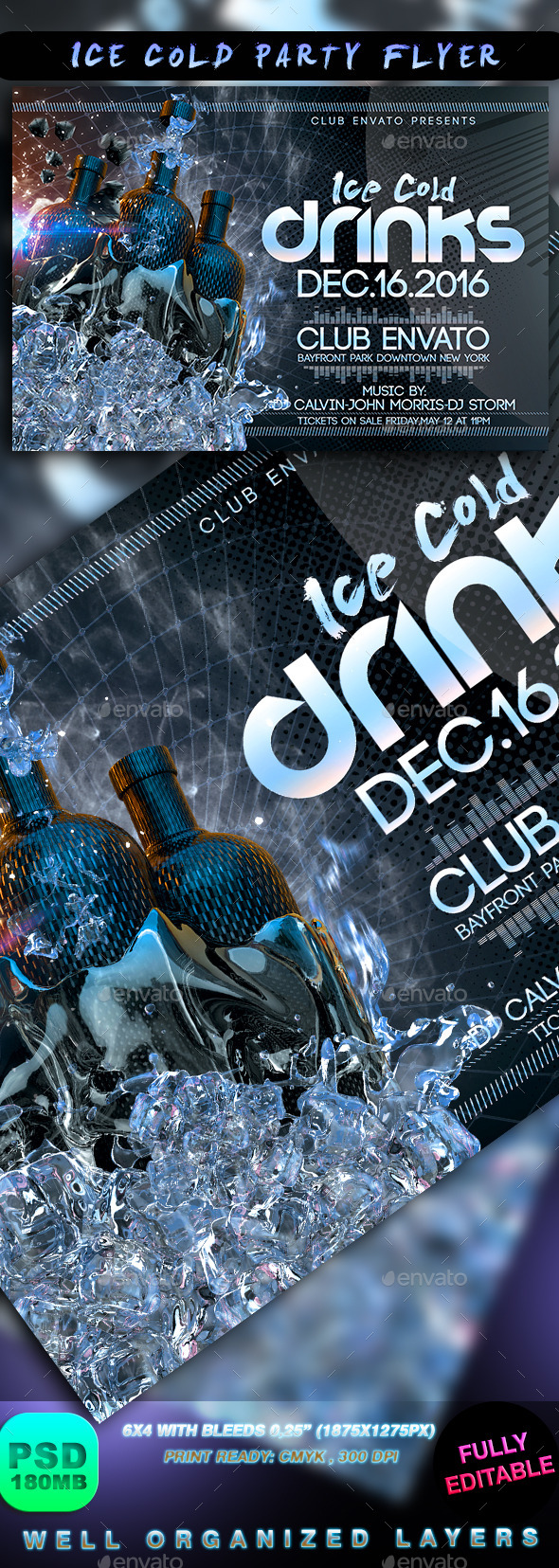GraphicRiver Ice Cold Party Flyer 8989557