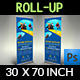 Diving Signage Roll-Up Banner Template Vol.2 - GraphicRiver Item for Sale