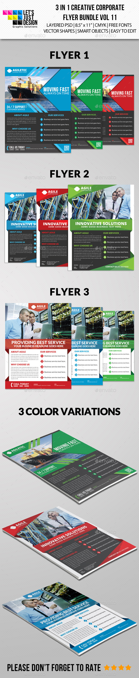 GraphicRiver Creative Corporate Flyer Pack Vol 11 8989576