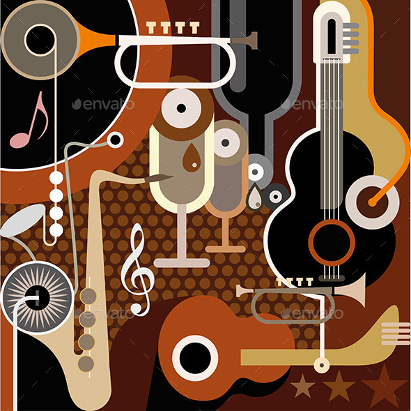 GraphicRiver Abstract Music Background 8989595
