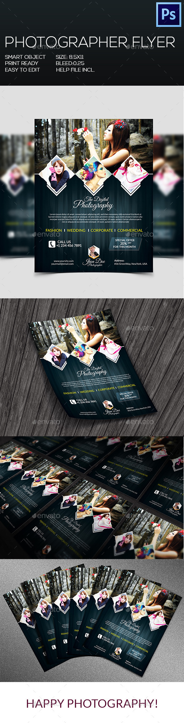 GraphicRiver Photographer Flyer V-2 8989608