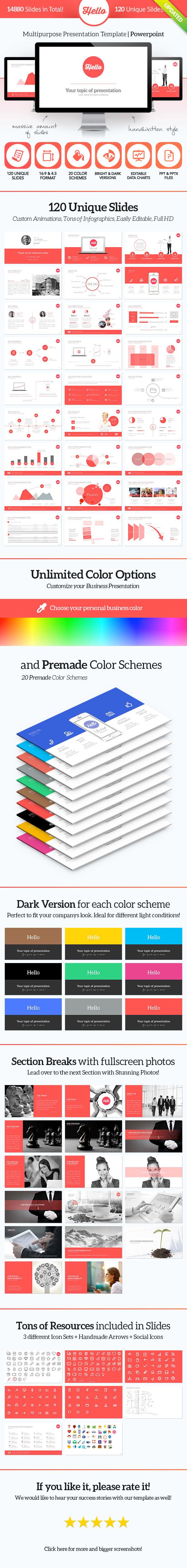 Hello PowerPoint - Multipurpose Presentation - Powerpoint Templates Presentation Templates