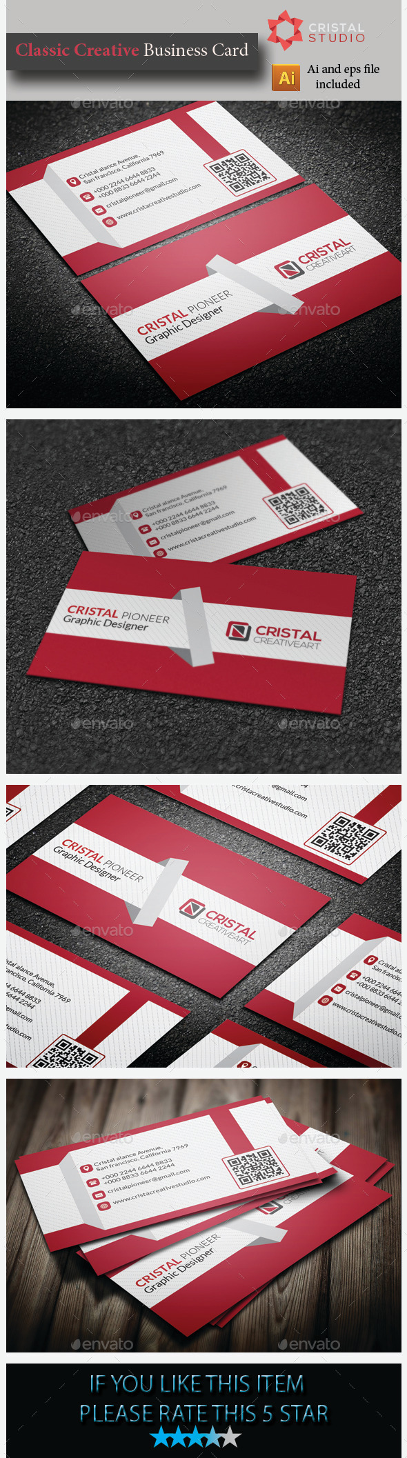 GraphicRiver Classic Creative Business Card 8989880
