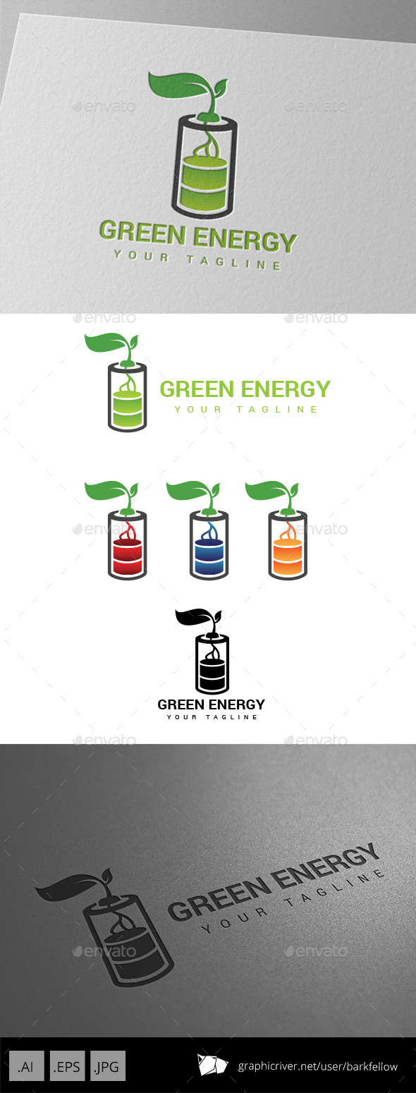 GraphicRiver Battery Green Energy Logo 8989894