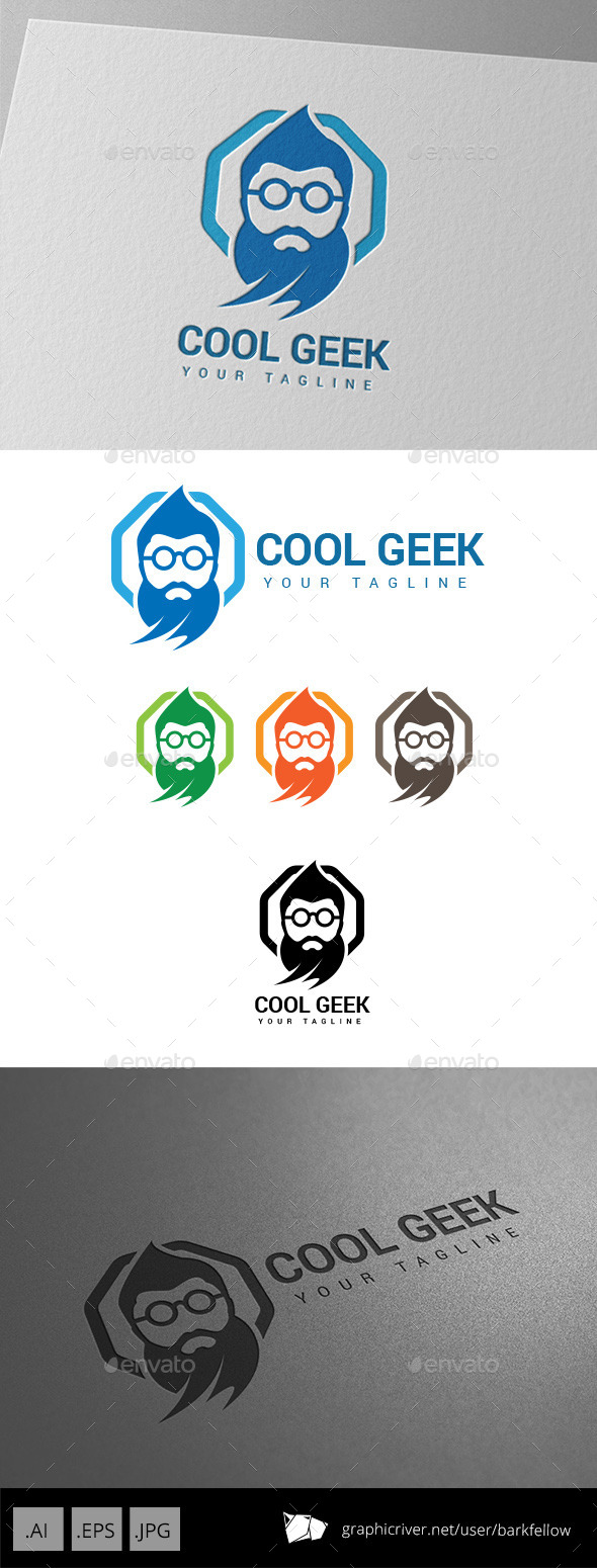 GraphicRiver Old Genius Geek Logo 8989903
