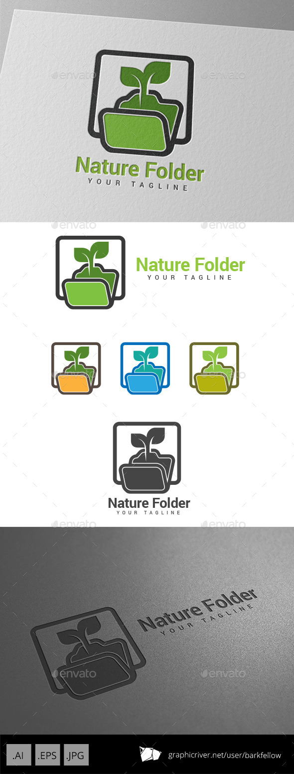 GraphicRiver Nature Folder Logo 8989907
