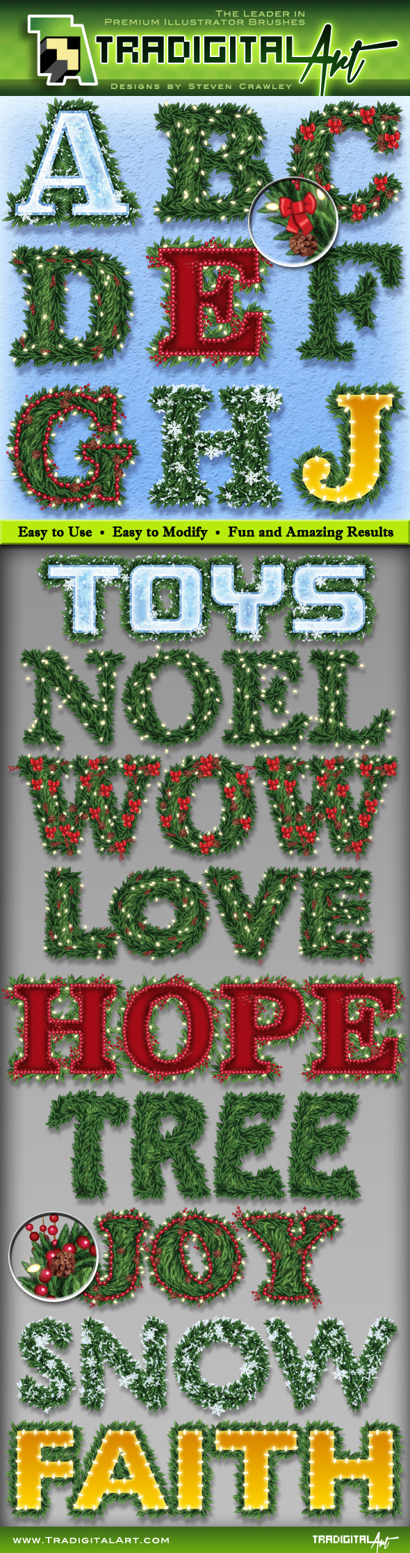 GraphicRiver Holiday Garland Graphic Styles 8989916