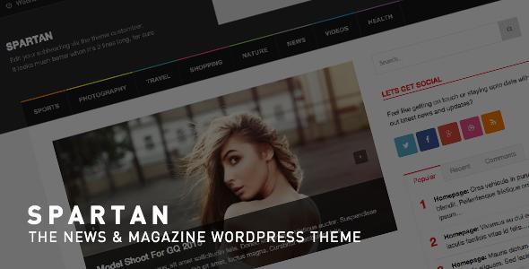 ThemeForest Spartan News Blog Magazine WordPress Theme 8989923