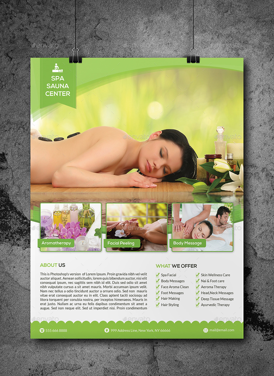 Spa Flyer Template by Elitely – Spa Brochure Template
