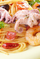 Seafood spaghetti marinara pasta macro photo - PhotoDune Item for Sale