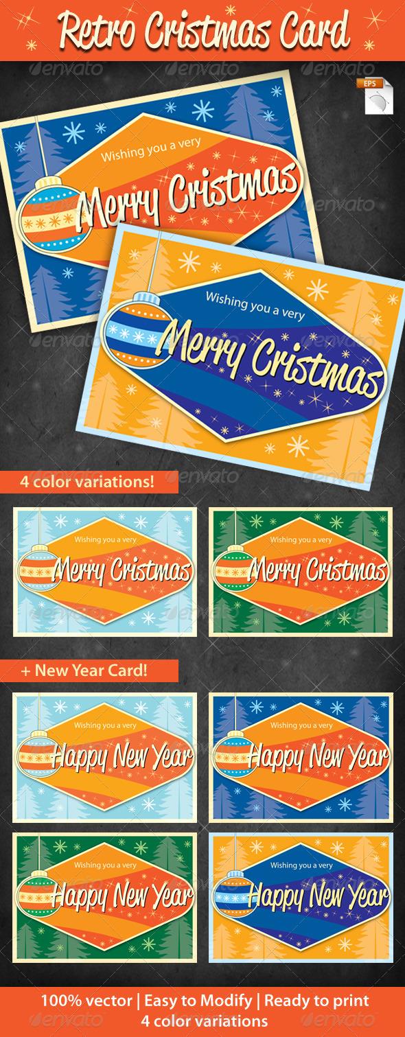 Retro Cristmas Card