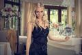 elegant blond girl at the restaurant - PhotoDune Item for Sale