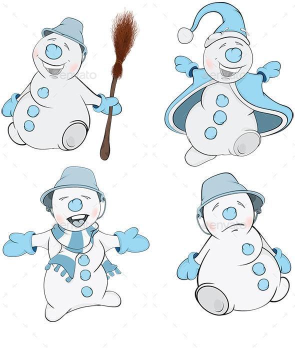 GraphicRiver Snowman Cartoon 8989984