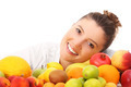 Happy woman and fruits - PhotoDune Item for Sale