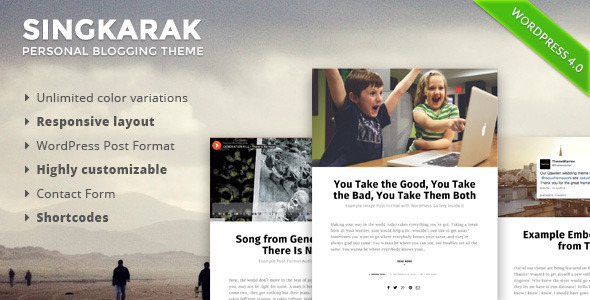 ThemeForest Singkarak Responsive WordPress Blog Theme 8968675
