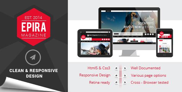 ThemeForest Epira Magazine HTML5 template 8990011