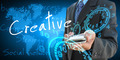 businessman hand holding creative - PhotoDune Item for Sale