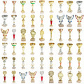Set sports awards isolated on a white background - PhotoDune Item for Sale