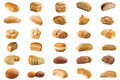 Set bread isolated on white background - PhotoDune Item for Sale
