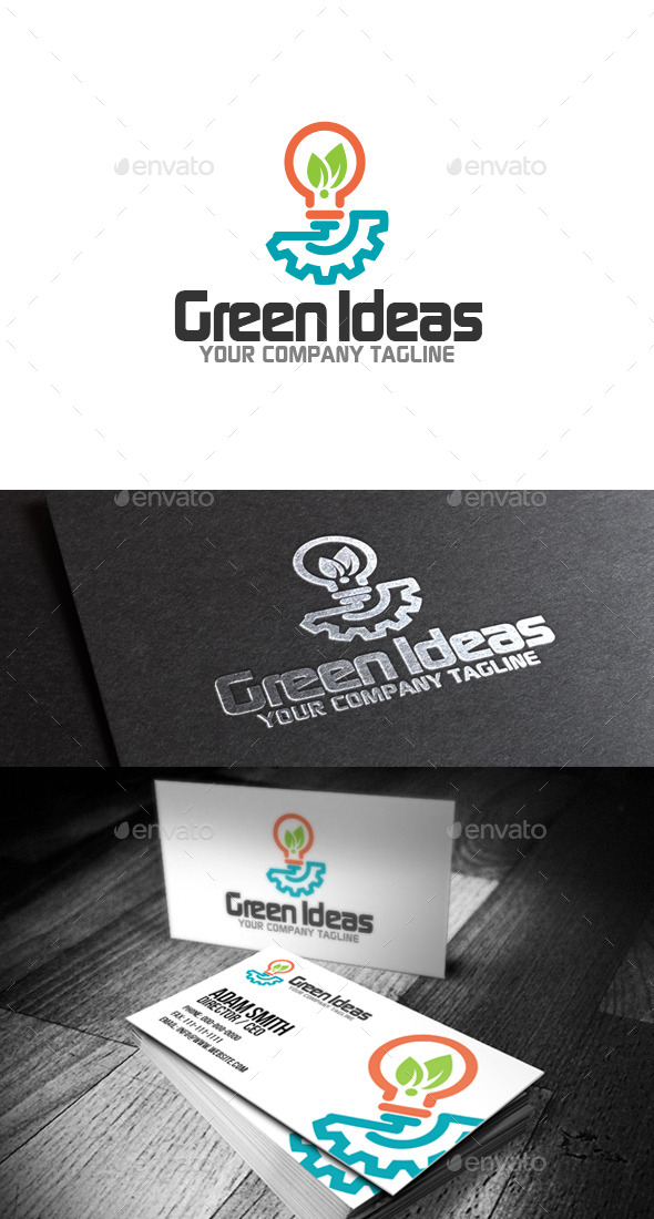 GraphicRiver Green Ideas Logo 8990169