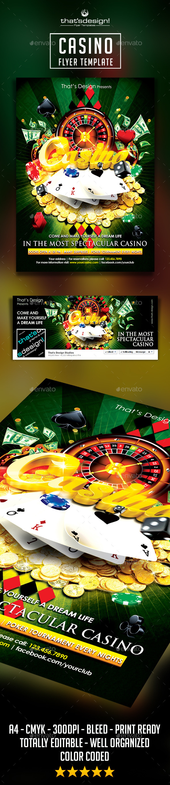 Casino Flyer Template - Events Flyers