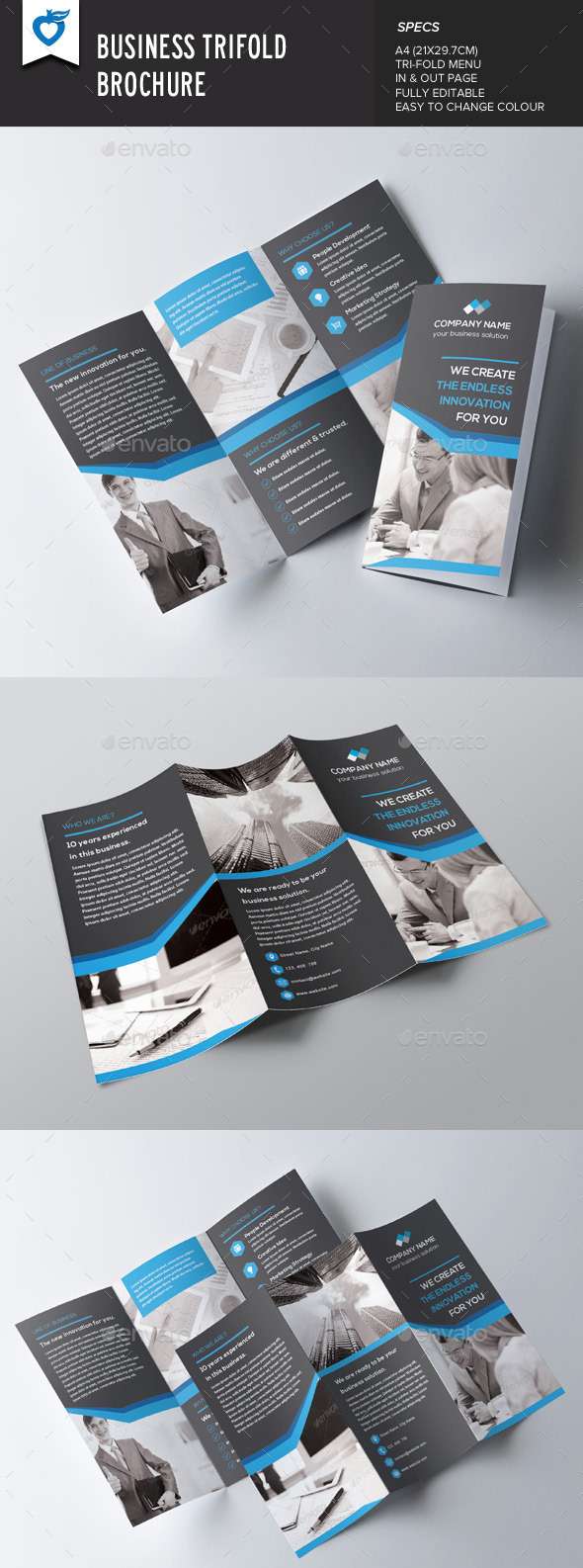 GraphicRiver Business Trifold Brochure 8990195