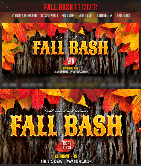 GraphicRiver Fall Bash FB cover 8990206