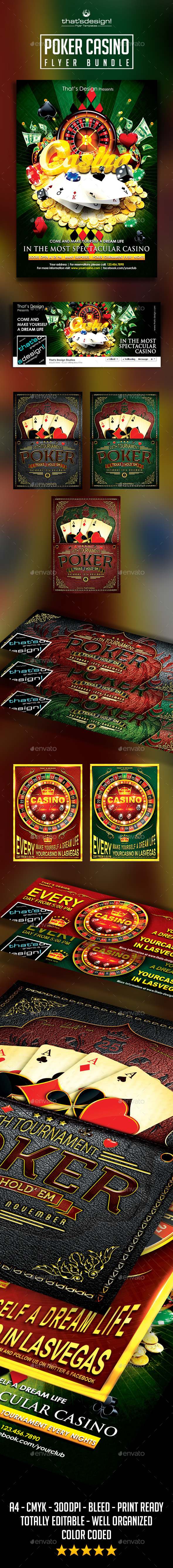 Poker and Casino Flyer Bundle - Events Flyers